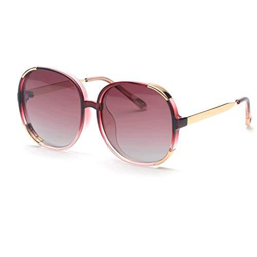 FAGUMA Oversized Round Polarized Sunglasses For Women Brand Designer ()