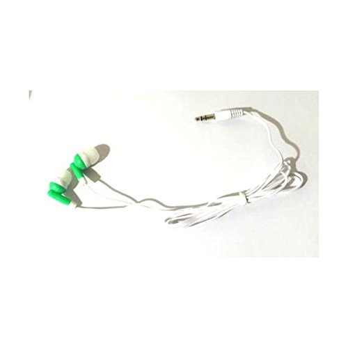 TFD Supplies Wholesale Bulk Earbuds Headphones 100 Pack For Iphone, Android, MP3 Player - Green