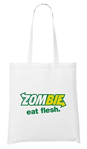 Zombie Eat Flesh Bolsa Blanco