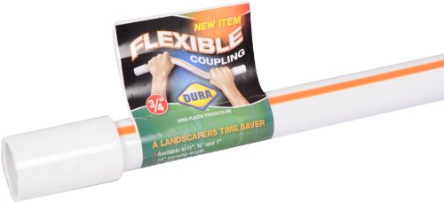 Pvc Sprinkler Repair (Dura Plastic FRC-010-S 1-Inch Flexible Repair Coupling, White)