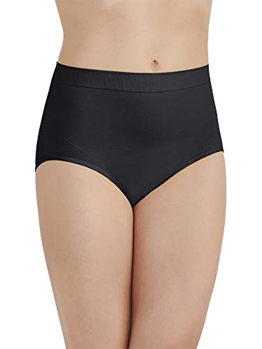Vanity Fair Women's Smoothing Comfort Seamless Brief Panty 13264, Midnight Black, 2X-Large/9