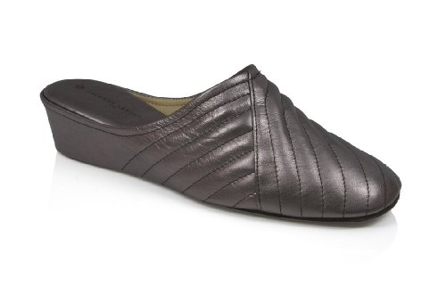 abed08298 Jacques Levine 1221 Womens Leather Wedge Slipper 5.5M