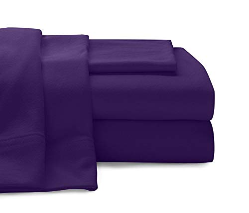 Empire Home Egyptian Collection 100% Cotton Flannel Sheet Set (Purple, Queen Size)
