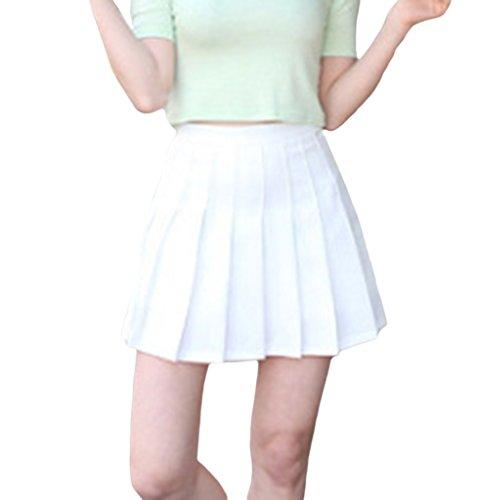 Haute Smile Plisse Soire Jupe Sport Casual Et Tennis YKK Courte Femme Blanc Taille pYPYTUqrA
