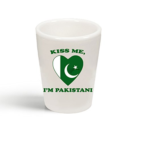 Style In Print Kiss Me I Am Pakistani Ceramic Shot Glass Cup