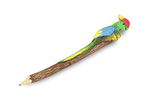 SiamMandalay®: Organic Bark Novelty Pencils: Frog Topper He