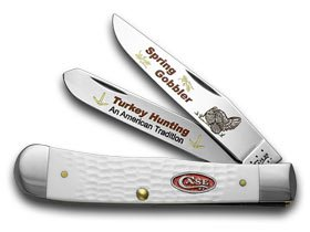 Gobbler Spring - CASE XX White Delrin Spring Gobbler Turkey Hunting 1/600 Trapper Pocket Knife Knives