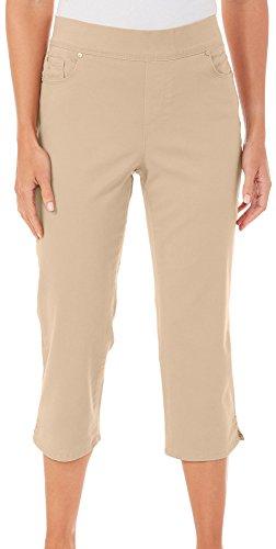 Gloria Vanderbilt Capri Pants (Gloria Vanderbilt Womens Avery Elastic Capris 12 Natural Sand Beige)