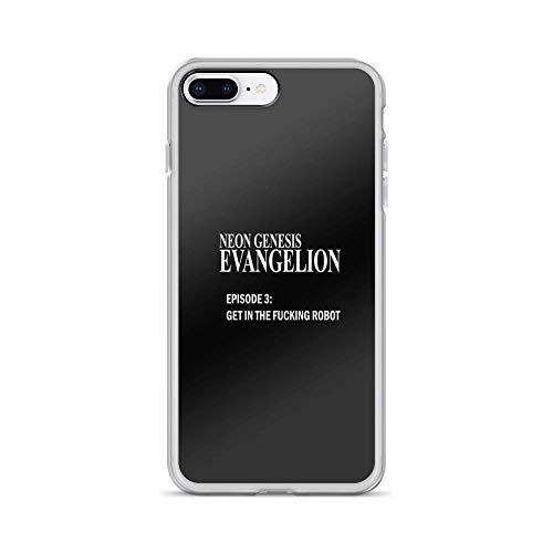 iPhone 7 Plus/iPhone 8 Plus Case Cases Clear Anti-Scratch Neon Genesis Evangelion - GET in The Fcking Robot, Evangelion Cover Case for iPhone 7 Plus, iPhone 8 Plus -