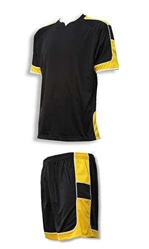 Galaxy soccer goalie jersey-short set with name and number on back - size Adult M - color ()