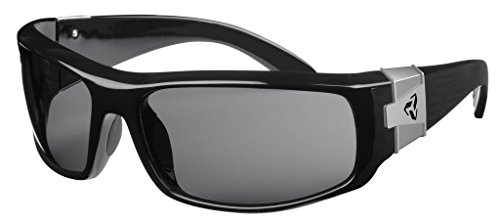 Ryders Eyewear Rockslide Black R447-012 Polycarbonate Grey Lens - Polycarbonate Sunglass Lenses