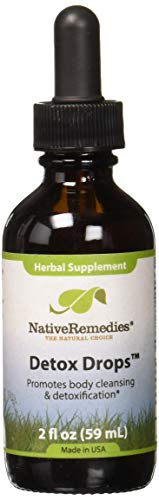 Native Remedies Detox Drops - All Natural Herbal Supplement Promotes Systemic Body Cleansing, Toxin Release and Liver Function and Detoxification - 59 mL
