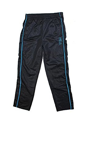 FILA Boys Athletic Logo Pants,10/12, Black by F.I