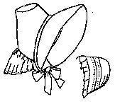 Victorian Dresses- Patterns, Costumes, Custom Dresses 1838 City Bonnet and Cap $10.50 AT vintagedancer.com