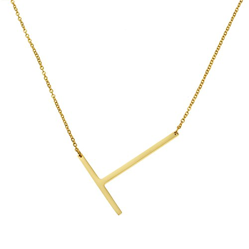 Necklace for Women Dainty Jewelry Initial Necklace Simple Pendant 26 Letters Engraved Stainless Steel for Women ()