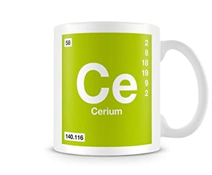 Amazon periodic table of elements 58 ce cerium symbol mug periodic table of elements 58 ce cerium symbol mug urtaz Images