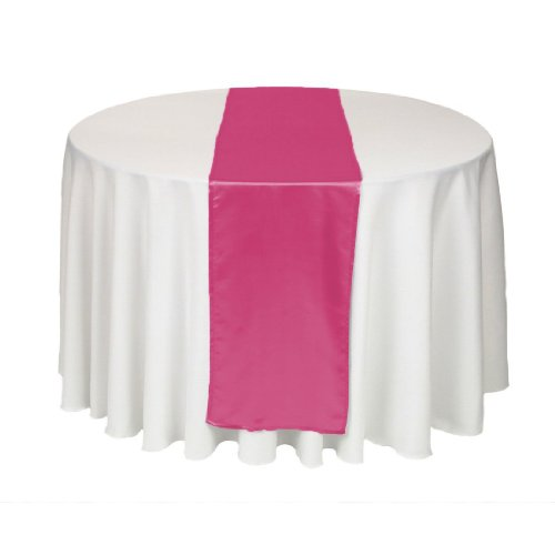 Buy pink satin table runner