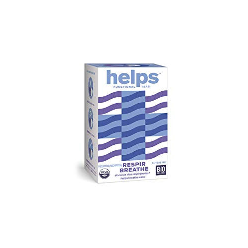 HELPS INFUSIONES - Infusion A Base De Eucalipto, Tomillo, Tila, Menta Y Stevia Infusion Expecorante Respiracion, Tos Y Catarros Helps Breathe Caja De 16 Bolsitas