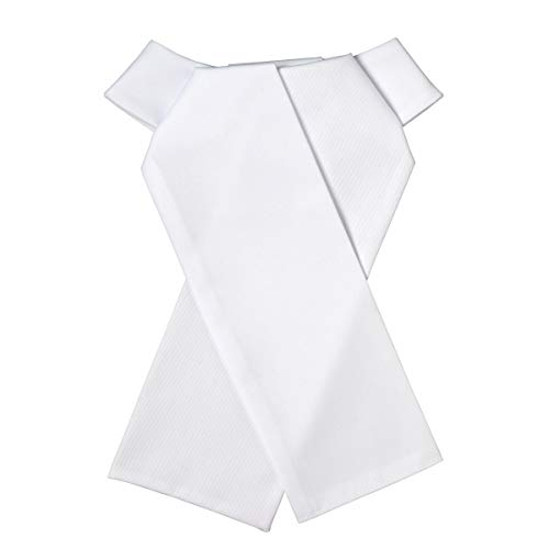 Ovation Women's  Classic Ready-Tied/Untied Stock Tie, White, Large