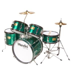 mendini mjds 5 gn complete 16 inch 5 piece green junior drum set with cymbals drumsticks and. Black Bedroom Furniture Sets. Home Design Ideas