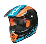 Polaris Open Face Black/Blue/Orange KC711 Fly F2 Helmet- Large