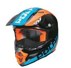 Polaris Open Face Black/Blue/Orange KC711 Fly F2 Helmet- Large by Polaris