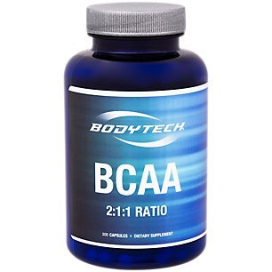 BodyTech BCAA (Branched Chain Amino Acid) Optimal 2:1:1 Ratio Supports Muscle Recovery Endurance (200 Capsules)