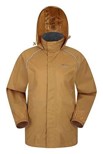 - Mountain Warehouse Pakka Mens Waterproof Rain Jacket - Packable Mustard Large