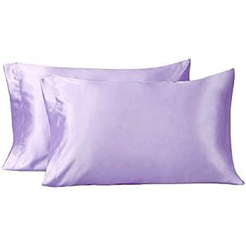 Amazon Com Iuniqee Satin Pillowcase Set Of 2 Super Soft