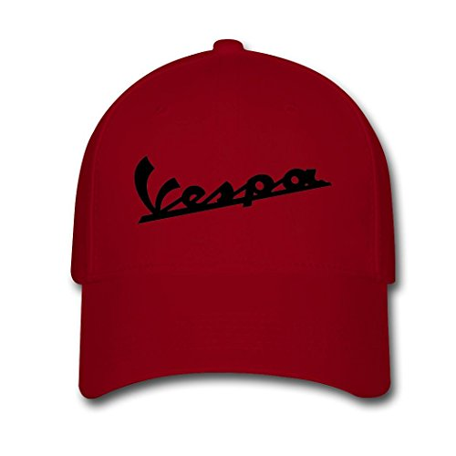 womans-or-mens-vespa-scooters-funny-logo-comfortable-fan-adjustable-hats-baseball-hats-red