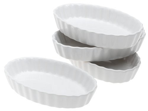 BonJour Chef's Tools Porcelain Cr?me Br?l?e Ramekin Set, 4-Piece, White by (Chefs Ramekins)