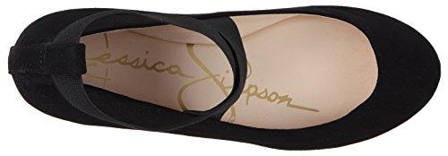Fancy Jessica Simpson Jessica Simpson Frauen Mandayss Ballett-Wohnung Schwarzes Wildleder