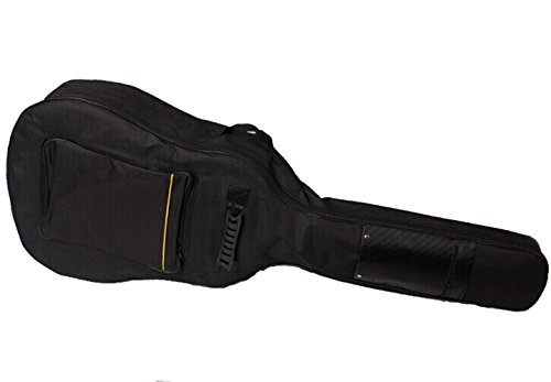 Faswin 41 Inch Dual Adjustable Shoulder Strap Acoustic Guitar Gig Bag - Black ()