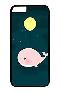 Balloons And Whales Slim Hard Cover for iPhone 6 Plus Case ( 5.5 inch ) PC Black Cases by runtopwell