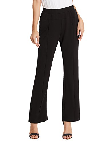 Kate Kasin Ladies Slim Bootcut Fit OL Career Long Pants Trousers L (Pull On Knit Pants)
