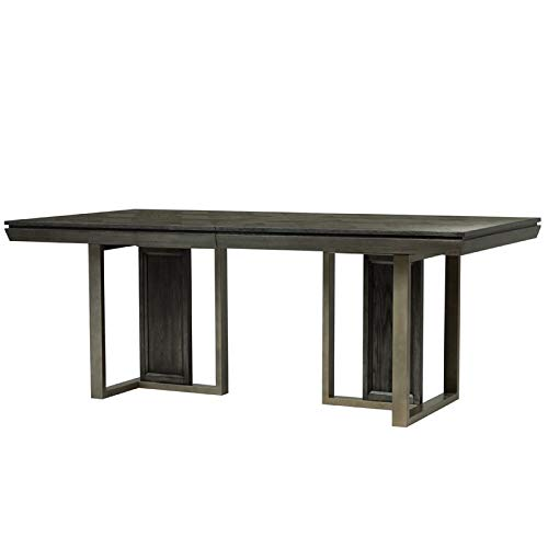 Magnussen Proximity Heights Double Pedestal Table in Smoke Anthracite ()