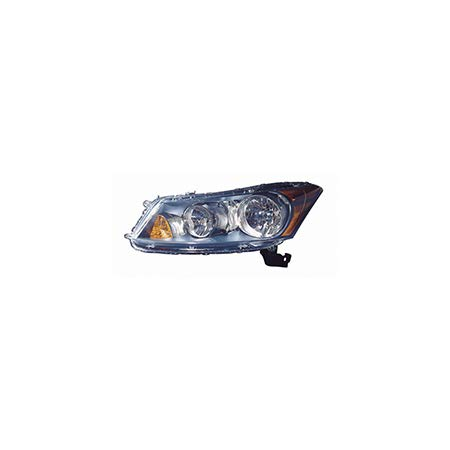 KarParts360: Fits 2008 2009 2010 2011 2012 HONDA ACCORD Head Light Assembly Driver (Left) Side w/Bulbs (NSF Certified) Replaces HO2502130 Accord Oem Left Side Headlight