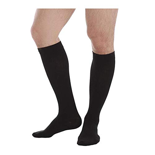 20-30mmHg Knee High Compression Socks Medical Firm Graduated Support Closed Toe Varicose Veins Stockings Women Men Black,Beige