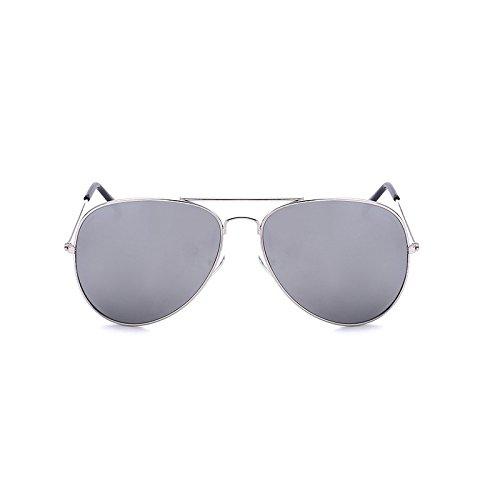 de La Sol Plata Gafas de Sol Gafas Gafas Sunglasses Plata de Color de La clásicas Hombres Trend Sol para Moda xwEp0Ha0