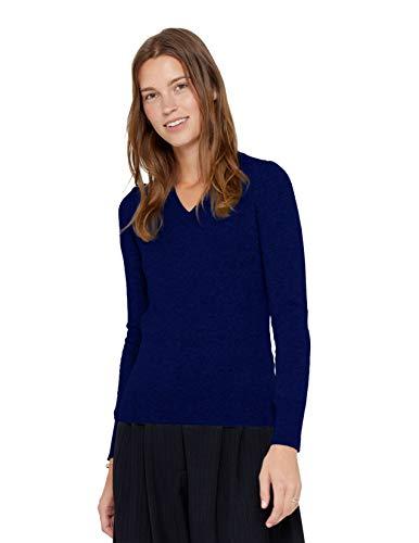 State Cashmere Damen Strickpullover 100% reines Kaschmir Feinstrick Langarm Pullover Mit V-Ausschnitt