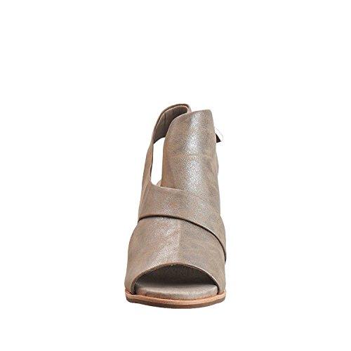 Antilopen Dames 520 Metallic Lederen Crossover Wrap Sandalen Van Tin