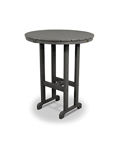 Trex Outdoor Monterey Bay Round Bar Table Color: Stepping Stone, Table Size: 36'' by Trex Outdoor