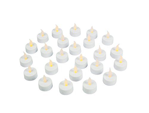 Flameless LED Tea Disclose Candles, Realistic, Battery Powered, Unscented LED Candles, Fake Candles, Tealights (24 Pack) - Vont
