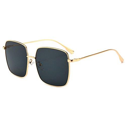 Square Eyewear Sunglasses Oversize Coolest Protection Luxury Lens Sunglasses Sunglasses UV Travel Street Fashion Shopping Gold black Grey Frame Women Shield wEx6wqYX