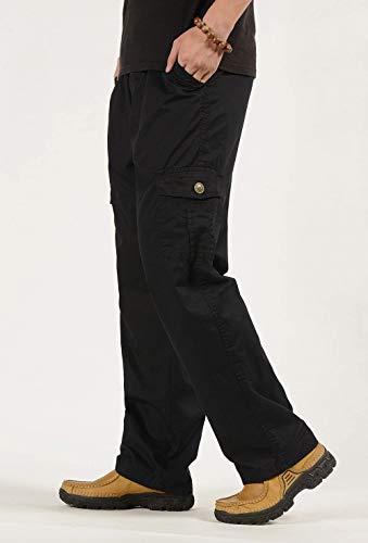 Pour Travail Trekking Pantalon De Vintage Long Noir Élastique Et En Décontracté Plein Hommes Vêtements Air Combat 15Xqw