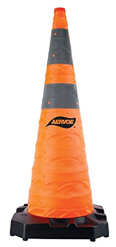 Aervoe H.D. Collapsible Safety Cone - 36'' - Weighted Rubber Base