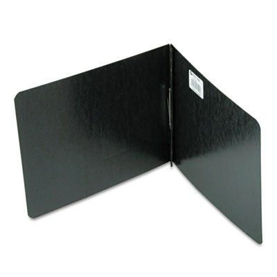 Pressboard Report Cover, Prong Clip, Letter, 2'' Capacity, Black
