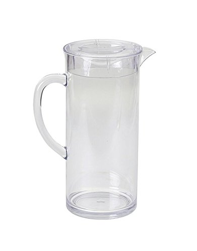 Tablecraft Plastic Pitcher - Tablecraft Pitcher with Lid, ½ Gallon, SAN Plastic