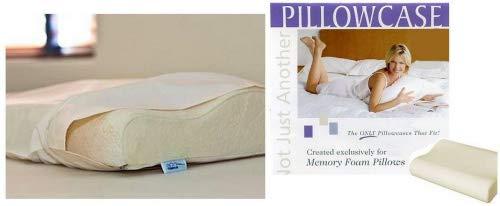 Gotcha Covered Contour Memory Foam Pillowcase Medium Size Wh