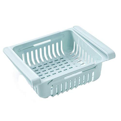 - Refrigerator Storage Rack, New Kitchen Article Storage Shelf Refrigerator Drawer Shelf Plate Layer (Blue)